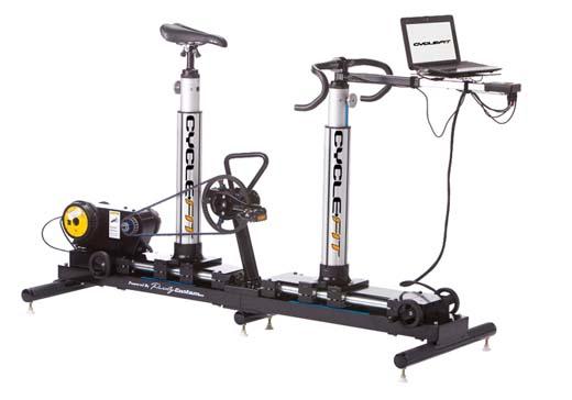 جهاز يقيس جسم الراكب لاختيار مقاس الدراجة المناسبة