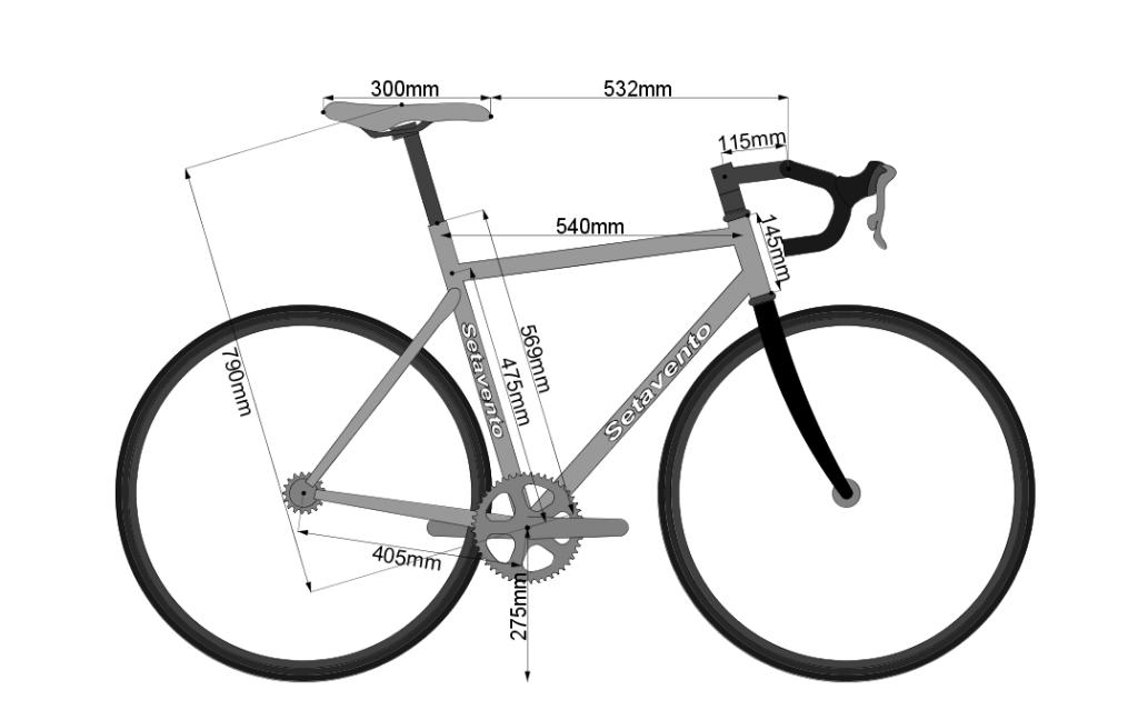 مقاسات الدراجة