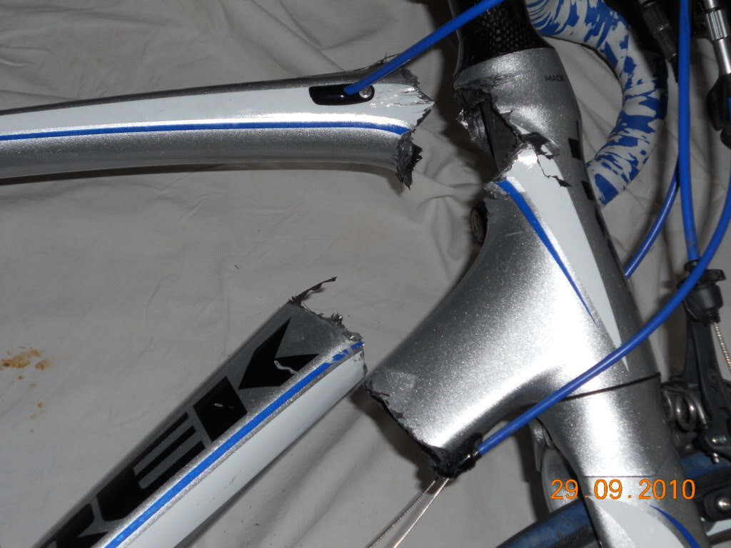 انهيار هيكل دراجة شارع فجأة من شركة TREK
