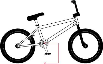 ارتفاع الدواسة في دراجة البهلوان عالي