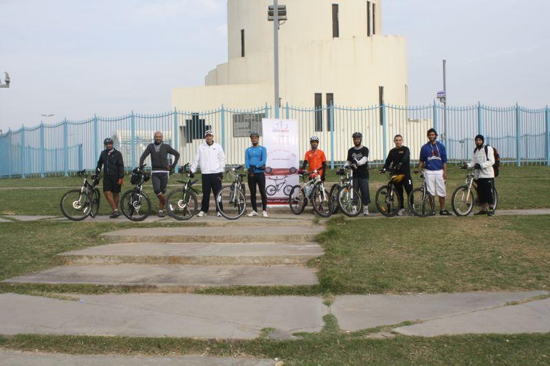 أول تجمع لفريق دراجتي في الدمام قبل اكتمال العدد