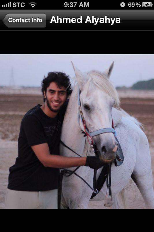 أحمد اليحيا وفرسه