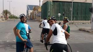 دراجتي في الرياض يتدربون على القيادة المركبية