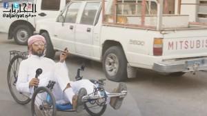 خالد الصقعبي يركب جارية في الوثائقي أنا أتنقل بدراجة