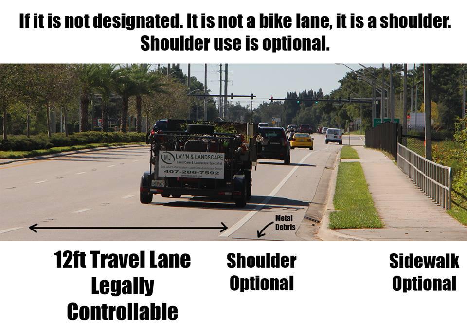 الفرق بين الطريق وكتف الطريق