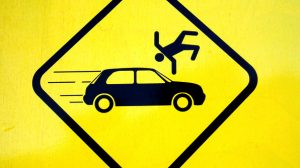 احذر توجد سيارات في طريقك!