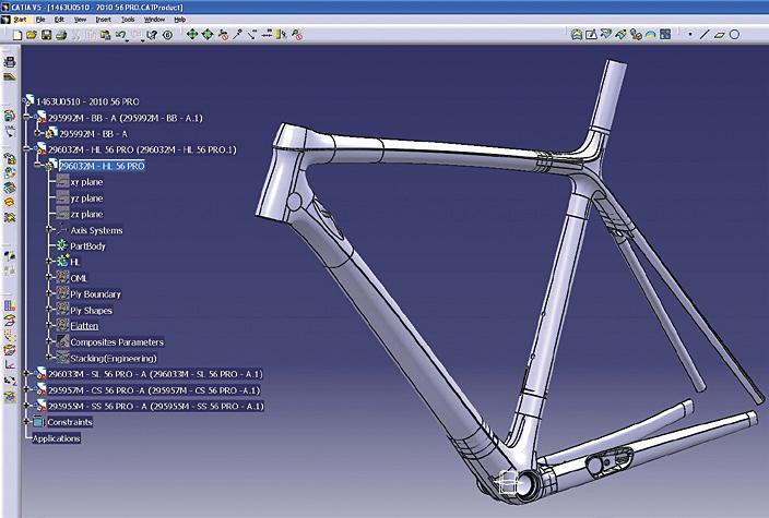 برنامج لتصميم هياكل الدراجات