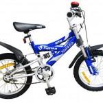 دراجة أطفال مزودة بمساعدات أمامية وخلفية