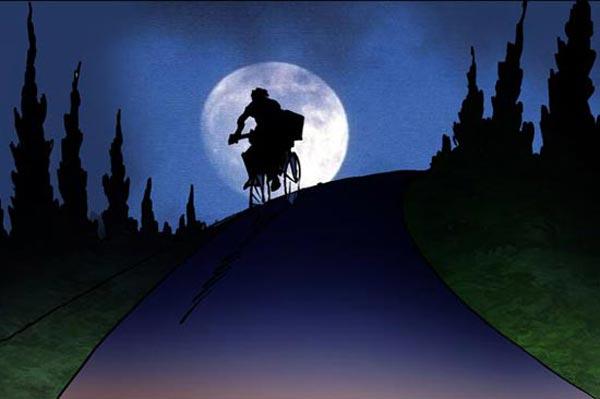 قيادة الدراجة بالليل