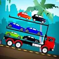 الشاحنات تحمل سيارات
