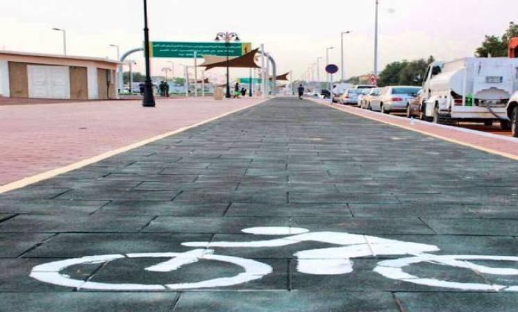 أرضية مسار الدراجات في ممشى الرحاب