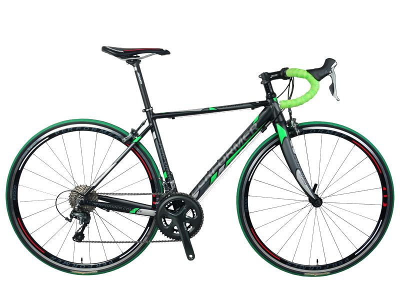 دراجة برفورمر ستورم طريق اسود أخضر Performer road bike storm BLACK GREEN