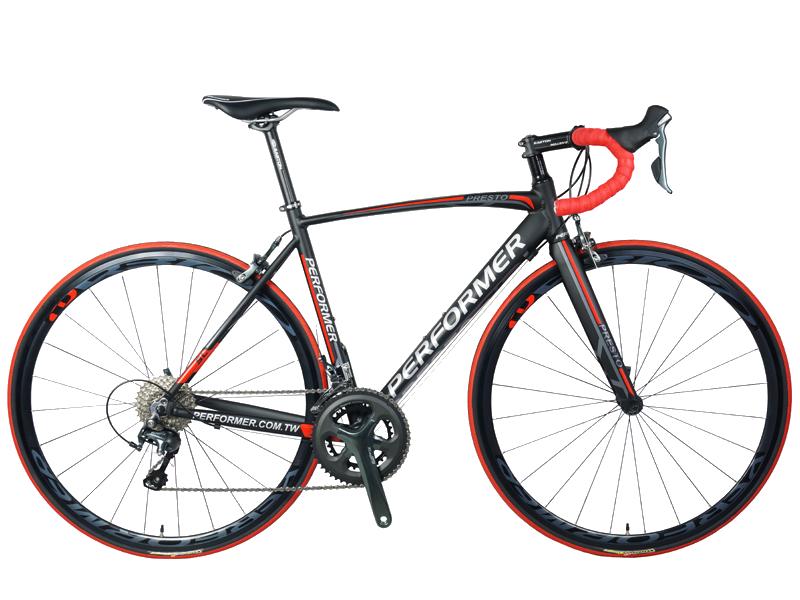 دراجة برفورمر برستو القهوة طريق اسود أحمر Performer road bike presto BLACK red