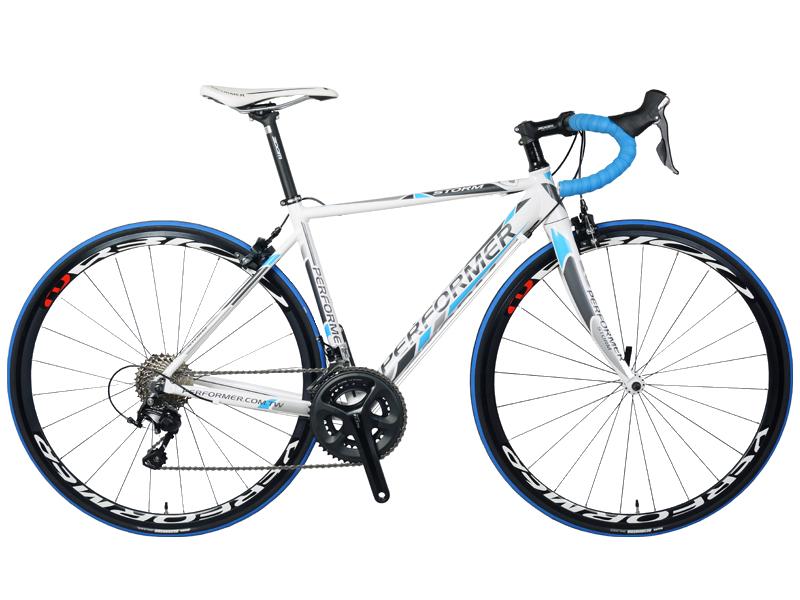 دراجة برفورمر ستورم طريق أبيض أزرق Performer road bike storm white blue
