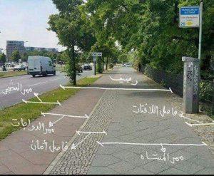مسار مفصول مع شرح